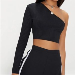 Pretty Little Thing one shoulder crop top